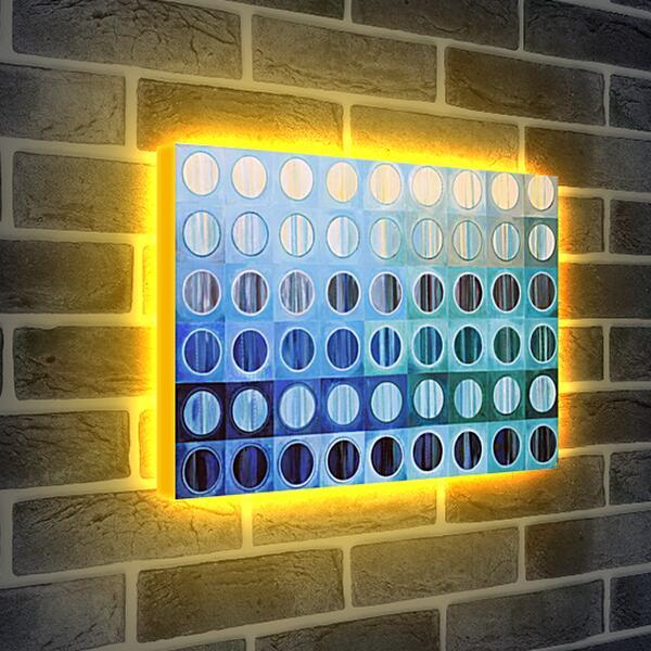Лайтбокс световая панель - Священный синий