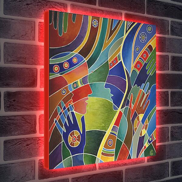 Лайтбокс световая панель - Гармония любви
