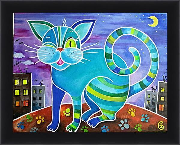 Картина в раме - Кот который живет на крыше