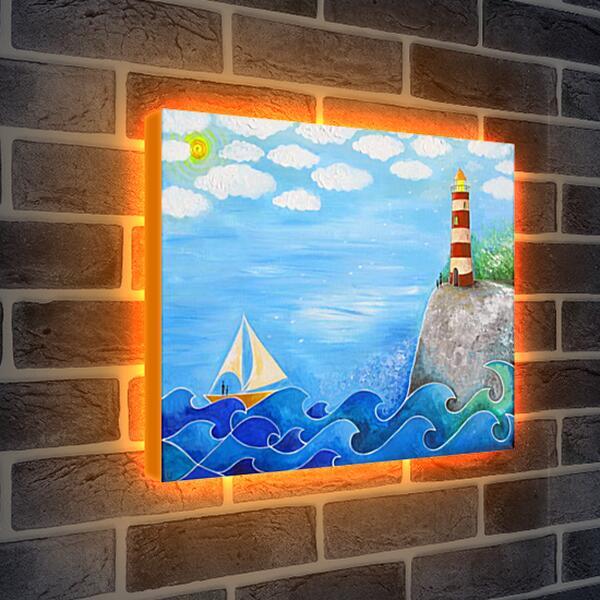 Лайтбокс световая панель - Маяк надежды