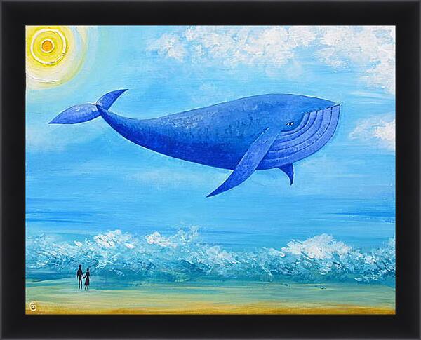 Картина в раме - Синий кит мечты
