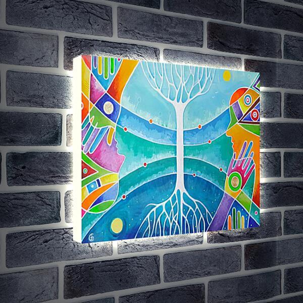 Лайтбокс световая панель - Гармония мира