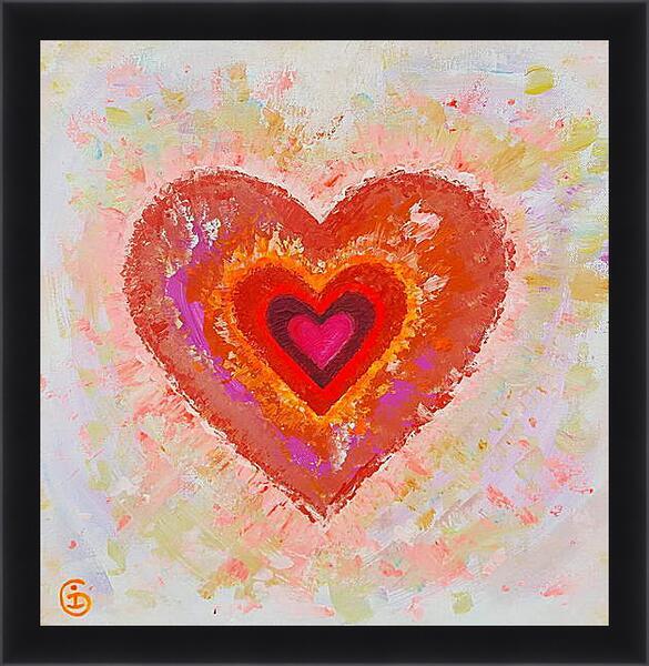 Картина в раме - Сердце