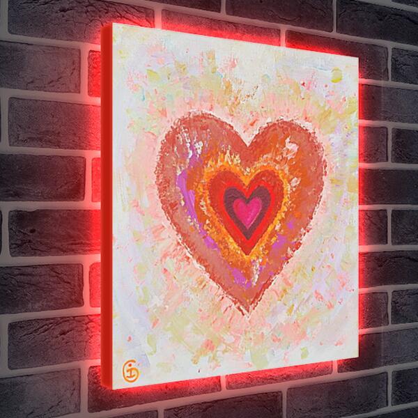 Лайтбокс световая панель - Сердце