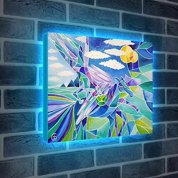 Лайтбокс световая панель - Всадник