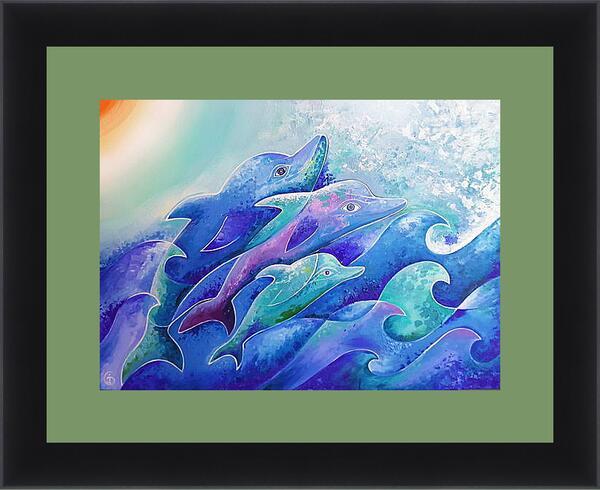 Картина в раме - Поющие дельфины