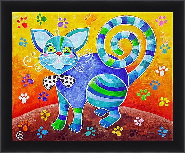 Картина в раме - Счастливый кот