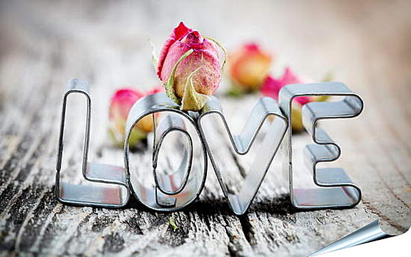 Плакат на стену - Любовь