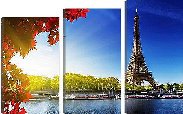 Модульная картина - Париж. Эйфелева башня, осень