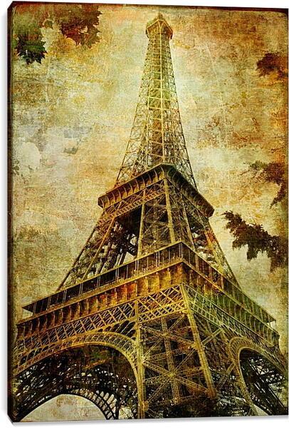 Постер на подрамнике - Париж эйфелева башня