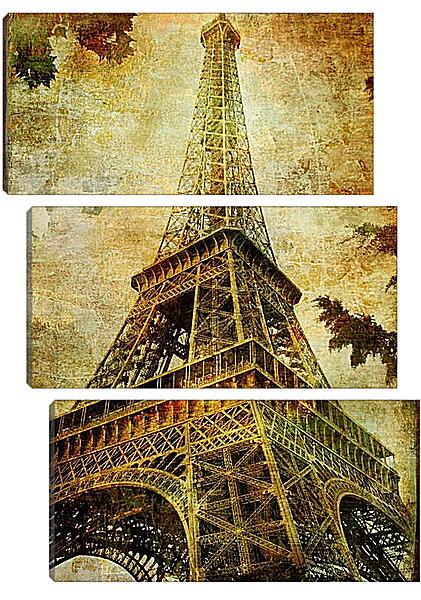 Модульная картина - Париж эйфелева башня
