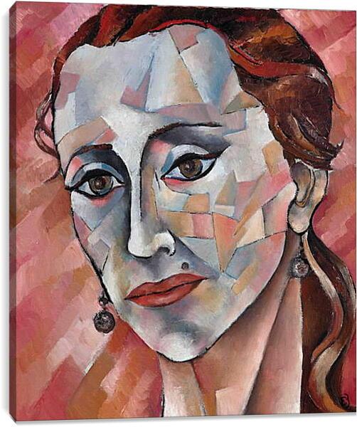 Постер на подрамнике - Задумчивая дама