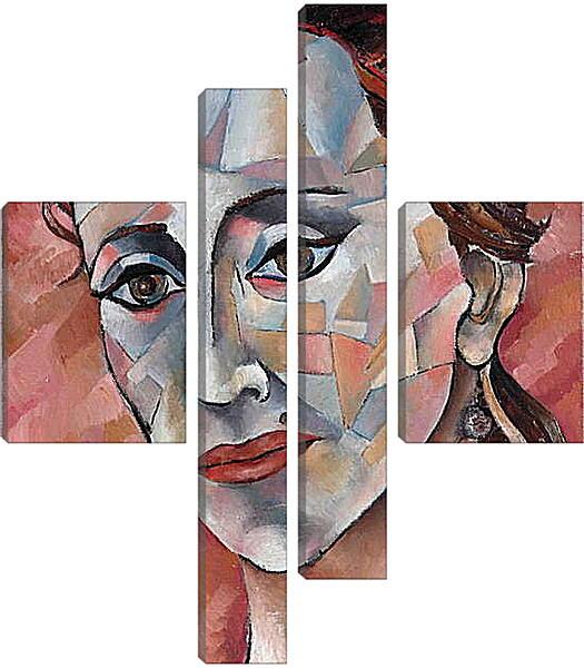 Модульная картина - Задумчивая дама