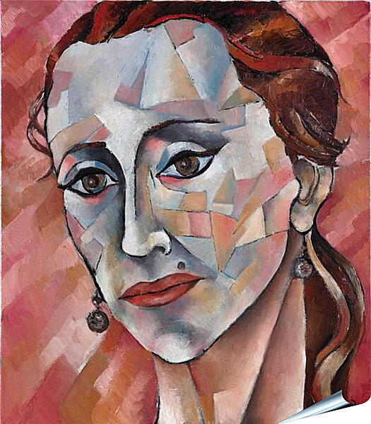 Плакат на стену - Задумчивая дама