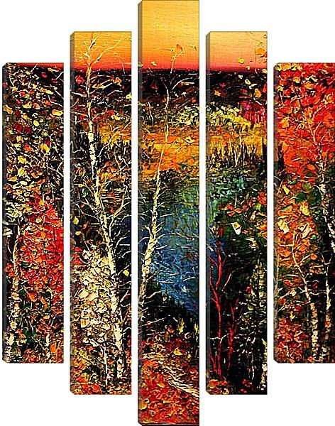Модульная картина - Осенний лес