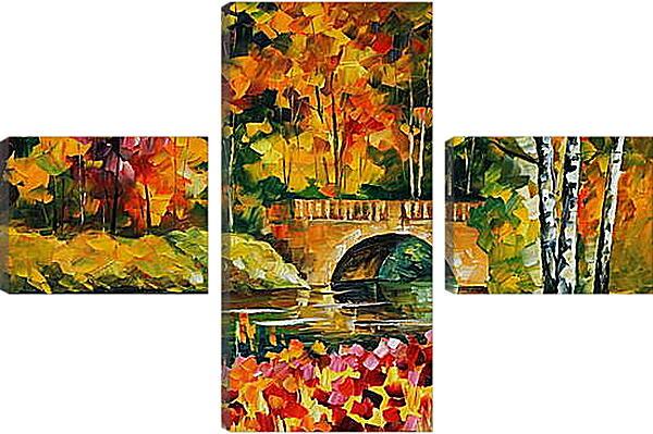 Модульная картина - Парк осенью