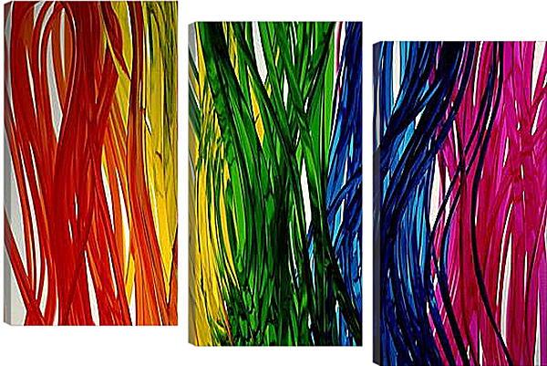 Модульная картина - Абстракция цветная