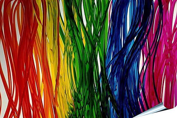Плакат на стену - Абстракция цветная
