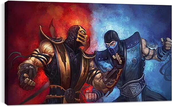 Постер на подрамнике - mortal kombat, scorpion, sub-zero