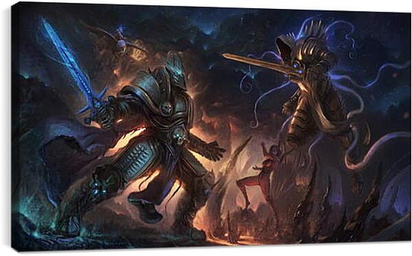 Постер на подрамнике - diablo, warcraft, starcraft