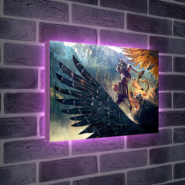 Лайтбокс световая панель - The Witcher 3: Wild Hunt