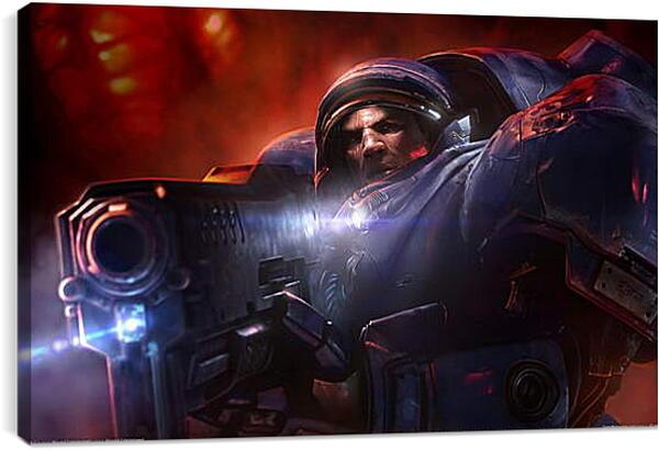 Постер на подрамнике - Starcraft II: Wings Of Liberty