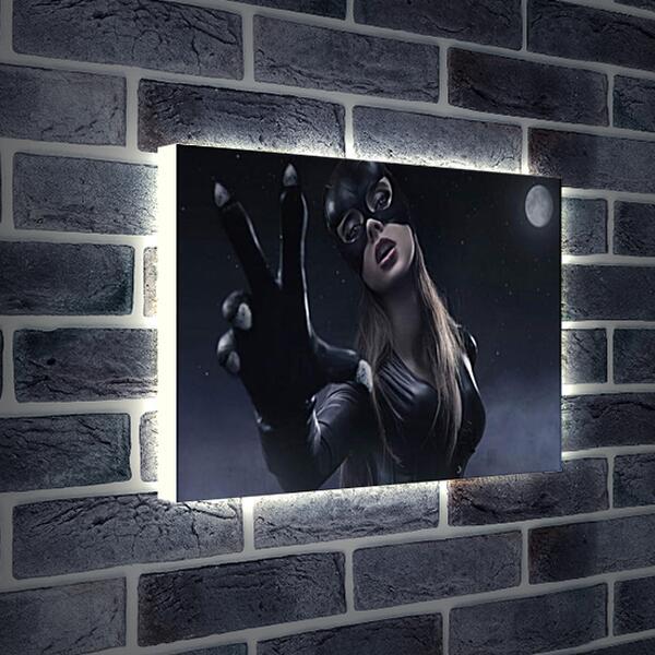 Лайтбокс световая панель - Женщина кошка (Catwoman)