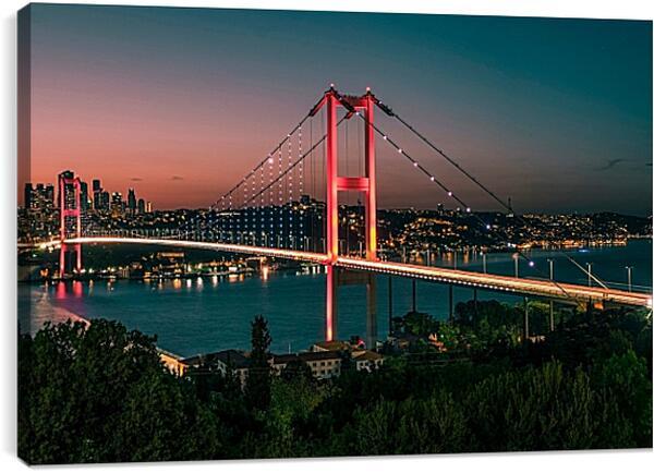 Постер на подрамнике - Городской мост