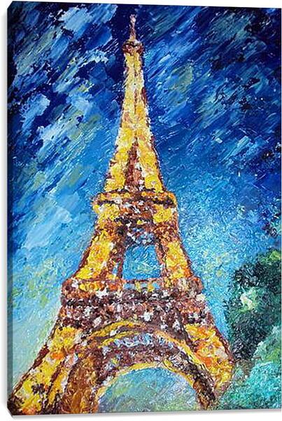 Постер на подрамнике - Эйфелева башня