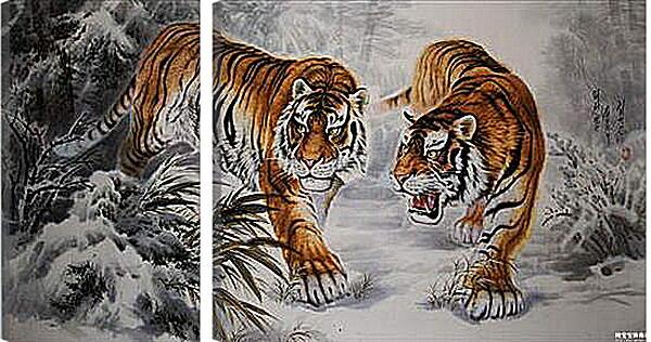 Модульная картина - тигр