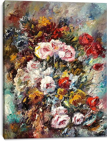 Постер на подрамнике - Цветы