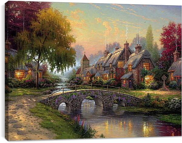 Постер на подрамнике - Деревня в викторианском стиле