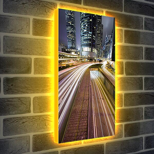 Лайтбокс световая панель - Городская трасса