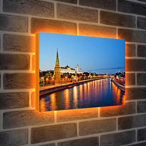 Лайтбокс световая панель - Москва река и Кремль