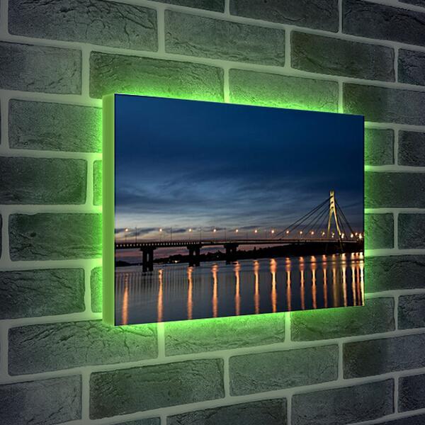 Лайтбокс световая панель - Огни на воде