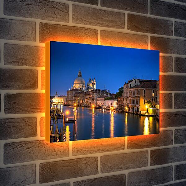 Лайтбокс световая панель - Огни ночной Венеции