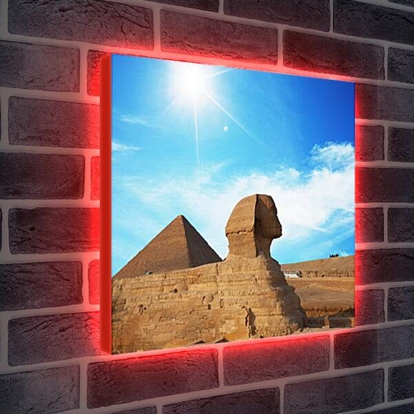 Лайтбокс световая панель - Египетский Сфинкс