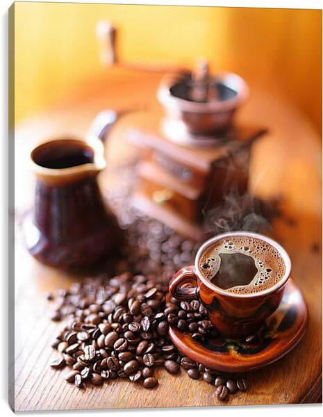 Постер на подрамнике - Утренний кофе