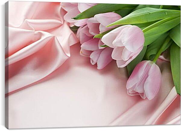 Постер на подрамнике - Букет тюльпанов