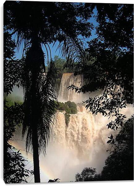 Постер на подрамнике - Тропический водопад