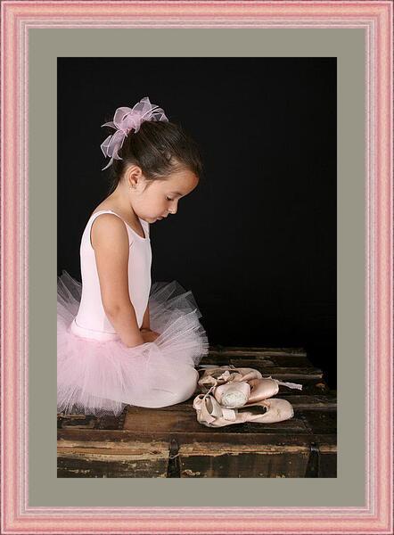 Картина в раме - Юная балерина