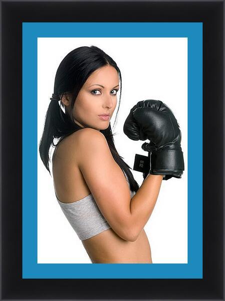 Картина в раме - Милая боксерша