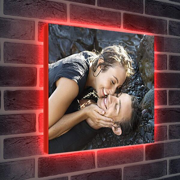 Лайтбокс световая панель - Двое влюбленных