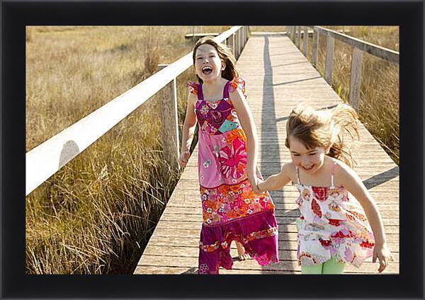 Картина в раме - Две сестры