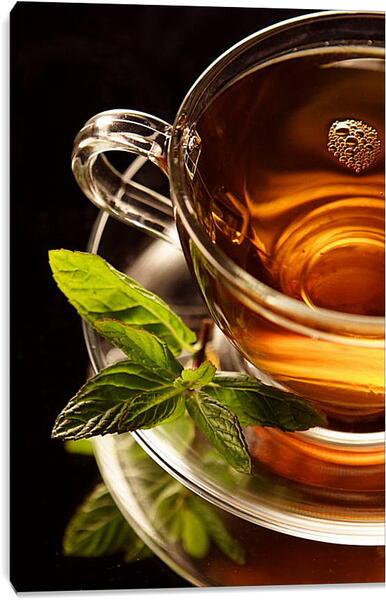 Постер на подрамнике - Чай с мятой