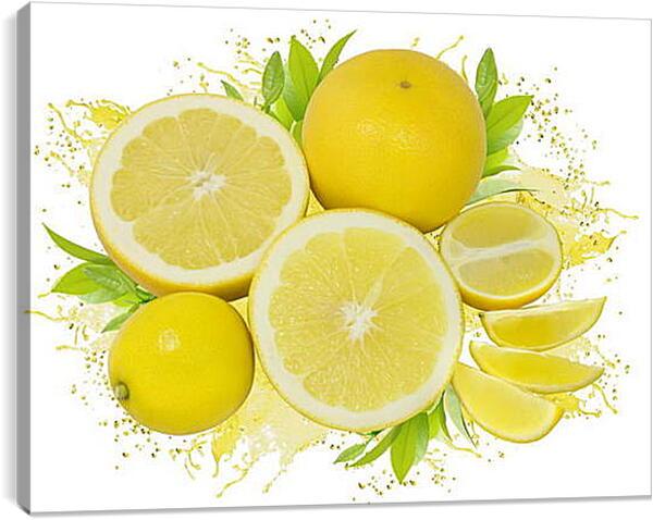 Постер на подрамнике - Лимоны