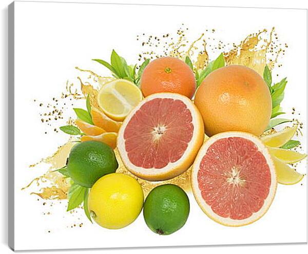 Постер на подрамнике - Разнообразие фруктов
