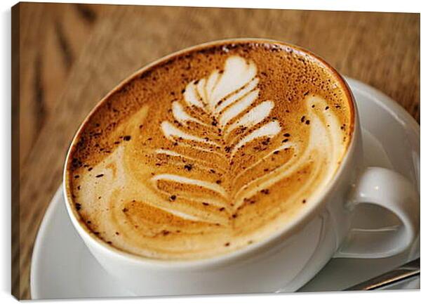 Постер на подрамнике - Рисунок в кофейной чашке