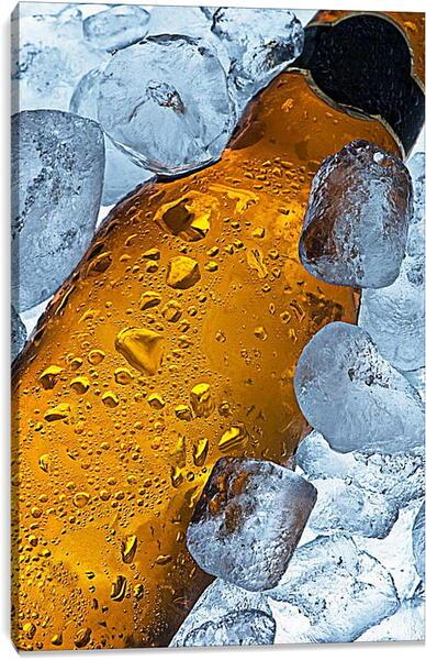 Постер на подрамнике - Охлажденная бутылка