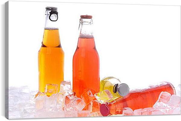 Постер на подрамнике - Лимонад и лед